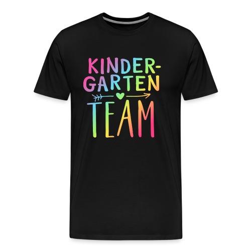 Kindergarten Team Neon Rainbow Teacher T-Shirts - Men's Premium T-Shirt
