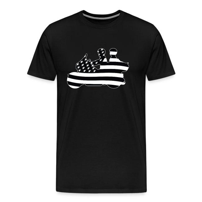Patriotic American Flag Touring Motorcycle