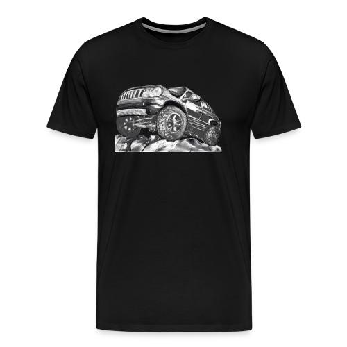 4 wheel SUV - Men's Premium T-Shirt