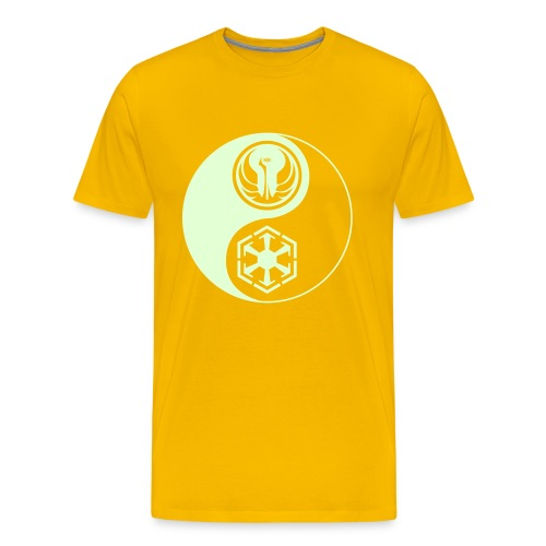 Star Wars SWTOR Yin Yang 1-Color Light - Men's Premium T-Shirt
