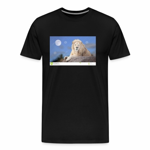 white lion moon light 62073026 - Men's Premium T-Shirt