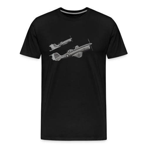 AL 81 Reed Kinert Aviation Art Album Image 149345 - Men's Premium T-Shirt