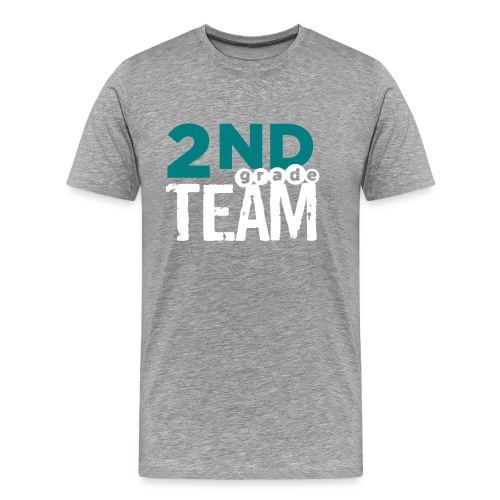 Bold 2nd Grade Team Teacher T Shirts - Men's Premium T-Shirt