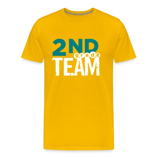 Bold 2nd Grade Team Teacher T Shirts - Men's Premium T-Shirt