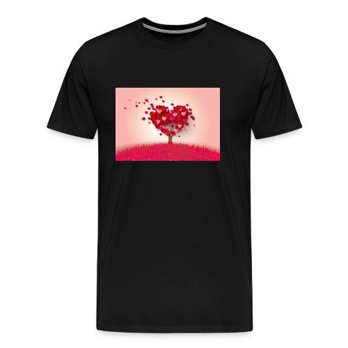 Heart Love Tree - Men's Premium T-Shirt