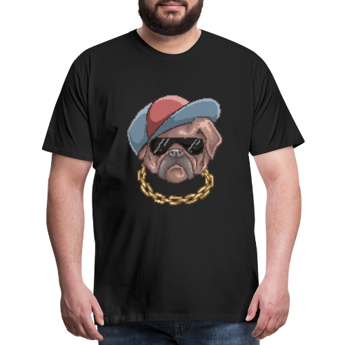 Pug Life | Funny Animal Pixel Art - Men's Premium T-Shirt