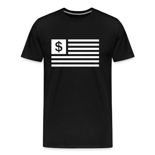 American Dollar Sign Flag - Men's Premium T-Shirt