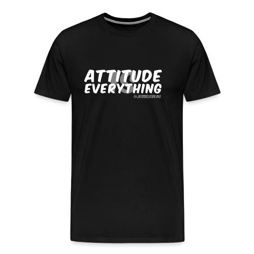 AIE Attitude Overlay White - Men's Premium T-Shirt