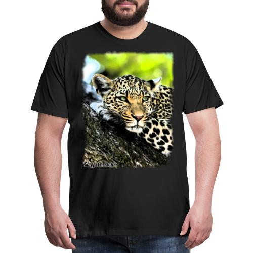 Leopard On A Tree - Men's Premium T-Shirt