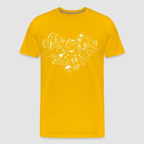Inanimate Heart White - Men's Premium T-Shirt