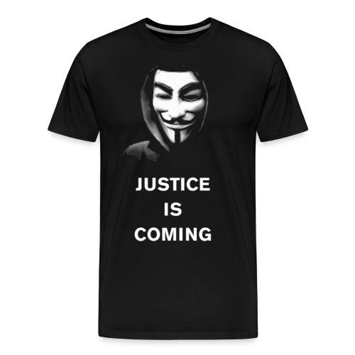justice is coming large gif - Men's Premium T-Shirt