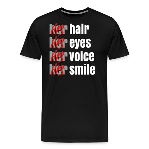 His - Her T-Shirt white - Men's Premium T-Shirt