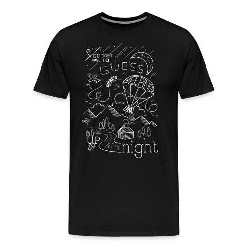 Up at Night Design - Men's Premium T-Shirt