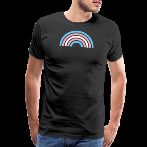 Gay Pride LGBTQ Transgender Rainbow Stripe 2018 - Men's Premium T-Shirt