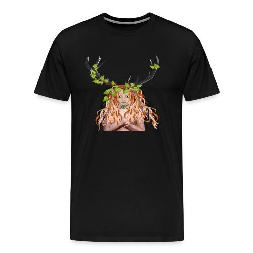 Female Green Woman - Men's Premium T-Shirt