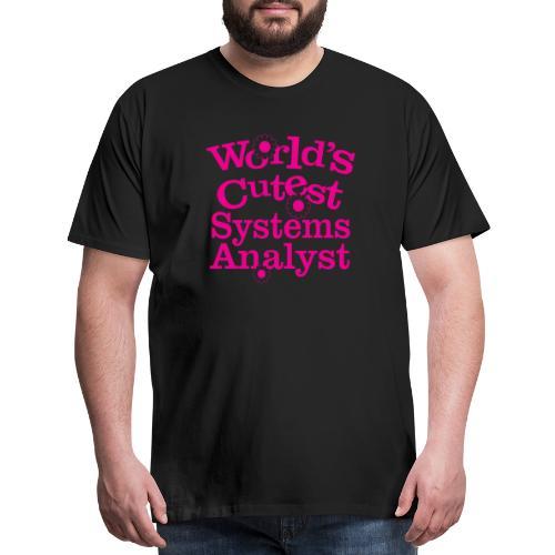 07 worlds cutest systems analyst copy - Men's Premium T-Shirt