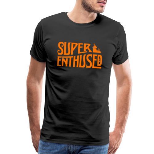 Super Enthused orange castle - Men's Premium T-Shirt