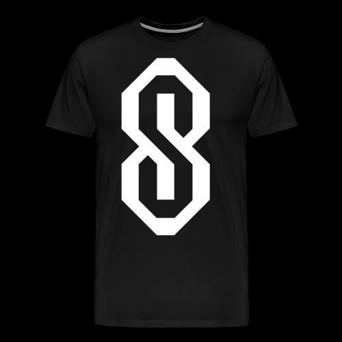 White S Logo - Men's Premium T-Shirt