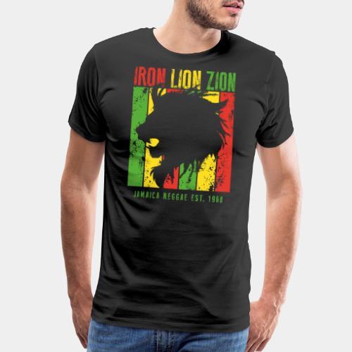iron lion jamaica reggae - Men's Premium T-Shirt