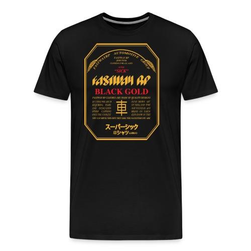 Fastway Beer Can Black Gold - Men's Premium T-Shirt