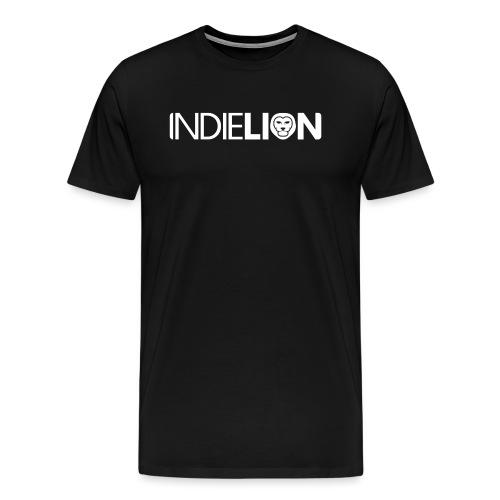 IndieLion textlogo white 01 png - Men's Premium T-Shirt
