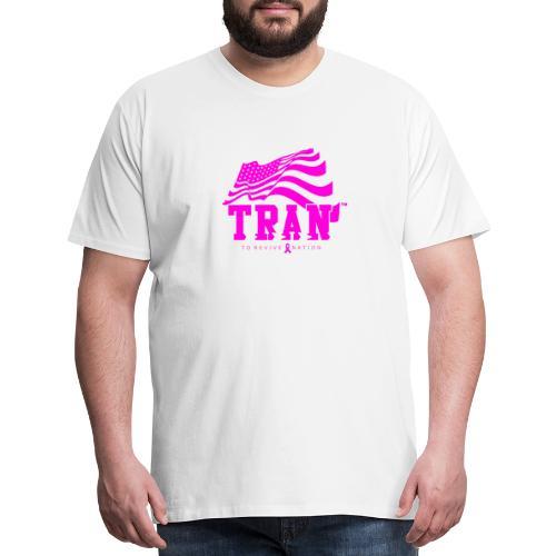 TRAN Ribbon Logo 4 - Men's Premium T-Shirt