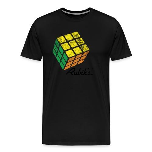 Rubik's Cube Solved Colourful Vintage - Men's Premium T-Shirt