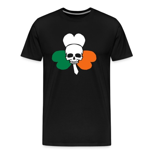 irish_skull_shamrock - Men's Premium T-Shirt