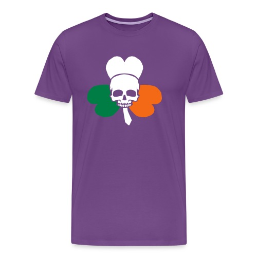 irish_skull_shamrock - Men's Premium T-Shirt