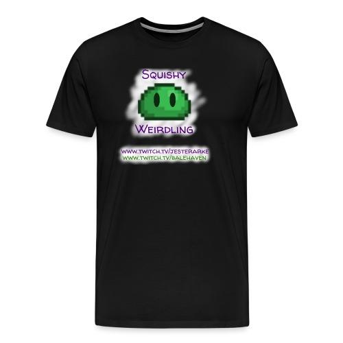 Green Squishy with white splash & adressess - Men's Premium T-Shirt