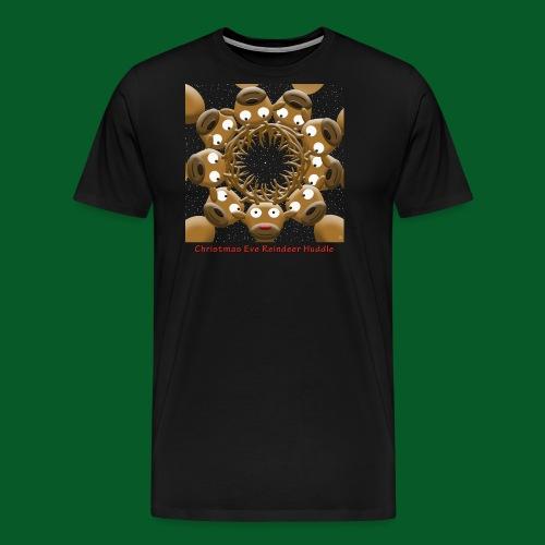 Christmas Eve Reindeer Huddle - Men's Premium T-Shirt