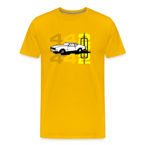 auto_oldsmobile_442_002a - Men's Premium T-Shirt