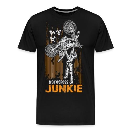 Motocross Junkie - Men's Premium T-Shirt