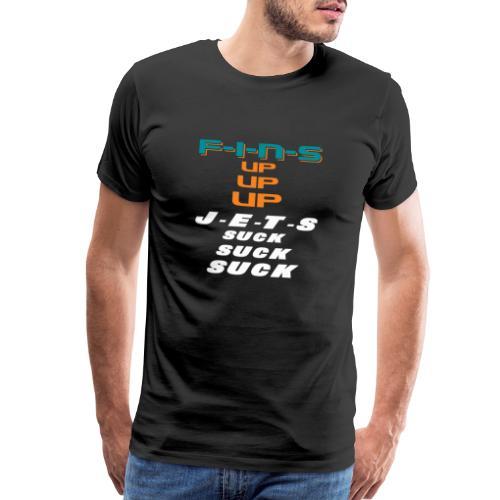 FINS UP JETS SUCK - Men's Premium T-Shirt