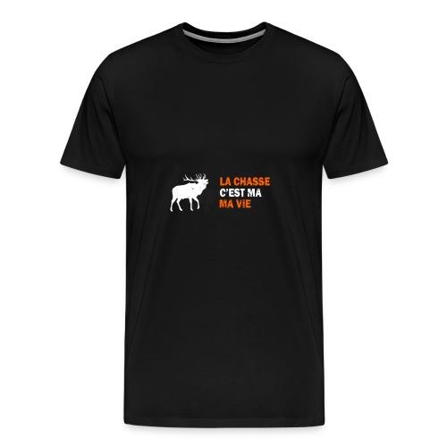 Hunting is my life - Men's Premium T-Shirt