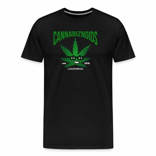 Cannabiznoids Logo with Text - Men's Premium T-Shirt