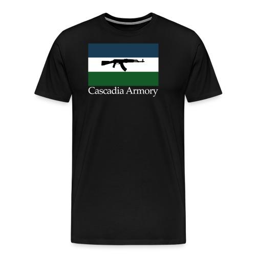 Cascadia Armory Logo White Text - Men's Premium T-Shirt