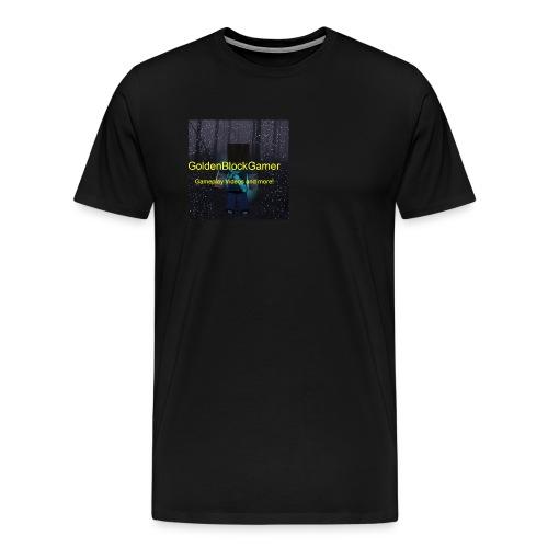 GoldenBlockGamer Tshirt - Men's Premium T-Shirt