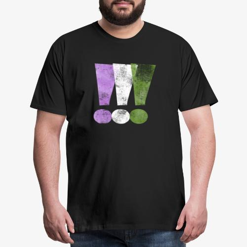 Genderqueer Pride Exclamation Points - Men's Premium T-Shirt