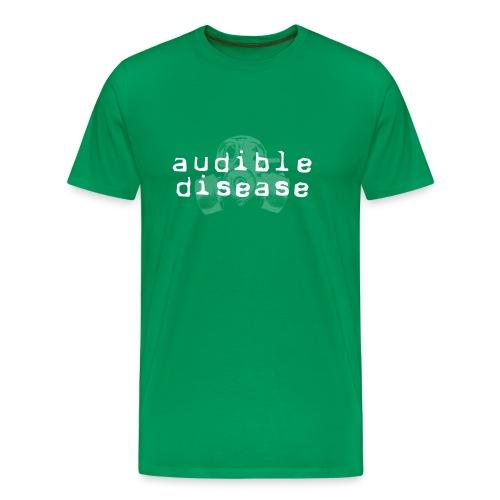 Audible Disease 1 blakk - Men's Premium T-Shirt