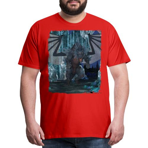 Wyldesigns: Ice Dragon In Crystal Cave - Men's Premium T-Shirt