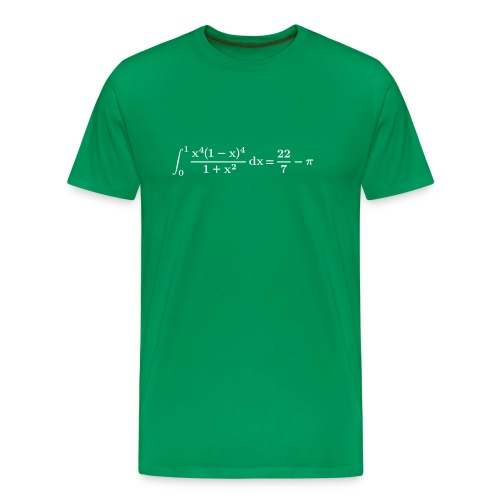 pi integral - Men's Premium T-Shirt