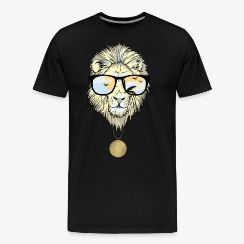 lion with gold chain 1 png - Men's Premium T-Shirt