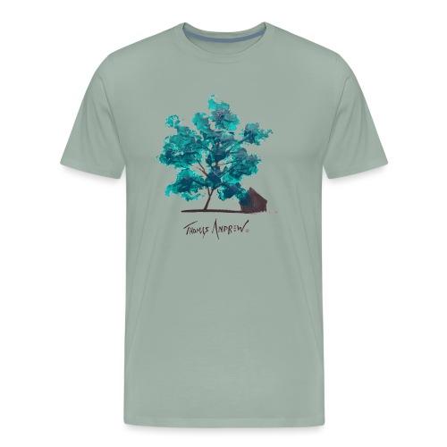 Teal Tree PNG - Men's Premium T-Shirt