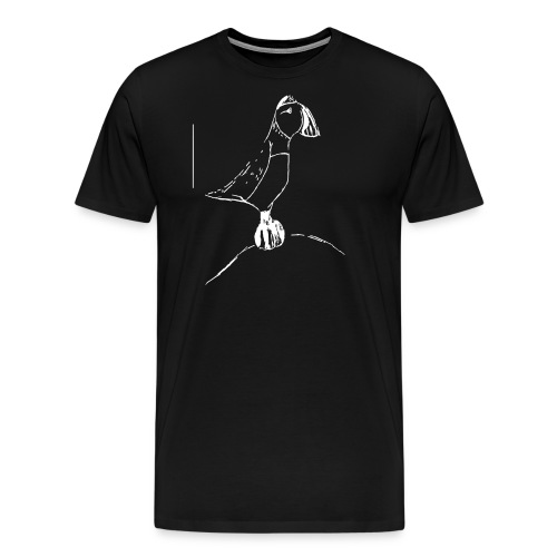 Stephen's hand drawn puffin - Men's Premium T-Shirt