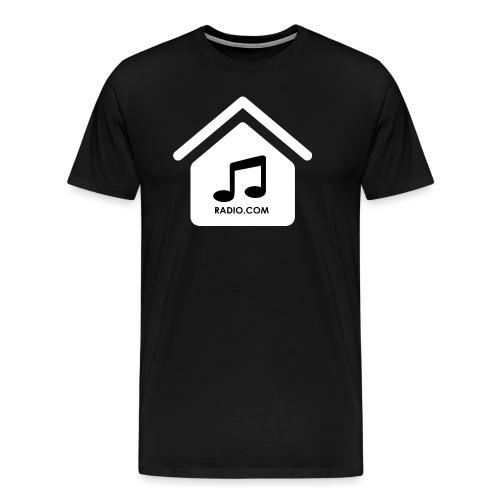 House Music Radio White black font no out line.png - Men's Premium T-Shirt