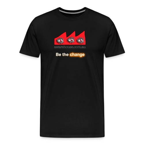 beTheChange onBlack - Men's Premium T-Shirt