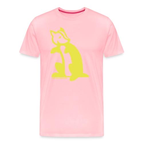 Not Literally Hufflepuff Logo Large - Men's Premium T-Shirt