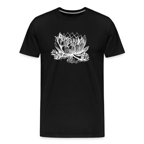 Vintage Artichoke Illustration - Men's Premium T-Shirt