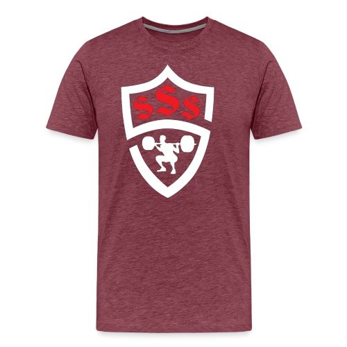 Logo Only White and Red - Men's Premium T-Shirt